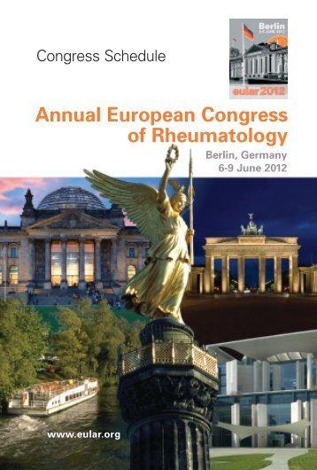 Annual European Congress Of Rheumatology - EULAR