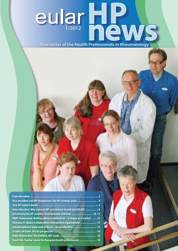 Newsletter of the Health Professionals in Rheumatology