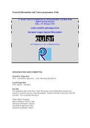 under scientific patronage of the under scientific patronage ... - EULAR