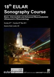 18 EULAR Sonography Course