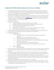 Scientifically endorsed courses - EULAR