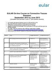 EULAR On-line Course on Connective Tissues Diseases September ...