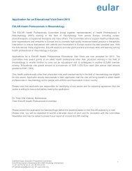 Download application form - EULAR