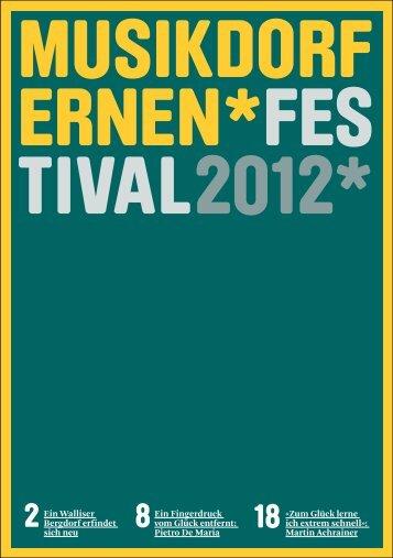 Festival Magazin 2012 - Ernen, Musikdorf