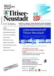 Amtsblatt Nr. 20 vom 04.10.2012 - Titisee-Neustadt