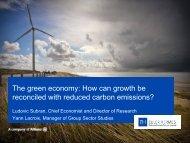 Presentation Green Economy - Euler Hermes