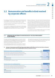 2.2 Remuneration and benefits in kind received by ... - Euler Hermes