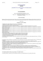 Convocation Assemblée générale mixte - Euler Hermes