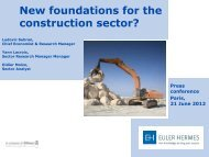 New foundations for the construction sector? - Euler Hermes