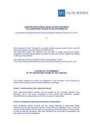 Charter and internal regulations of the Supervisory - Euler Hermes