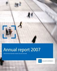 Annual report 2007 - Euler Hermes