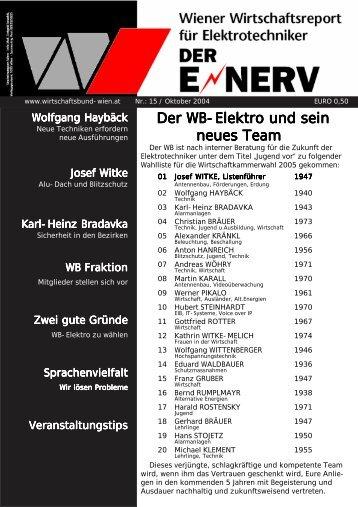 Der WB-Elektro und sein neues Team - r www.elektro-wb.a