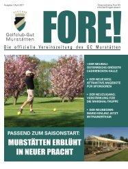 Fore Ausgabe April 2011.pdf - Golfclub Gut Murstätten
