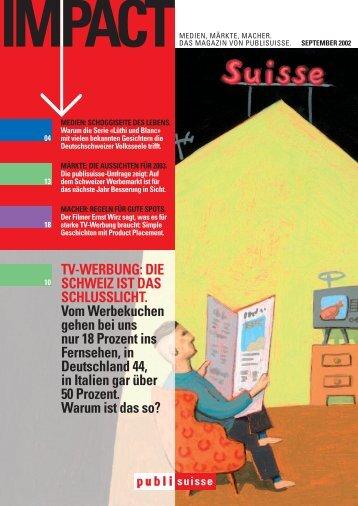TV-WERBUNG: DIE SCHWEIZ IST DAS SCHLUSSLICHT. Vom ...