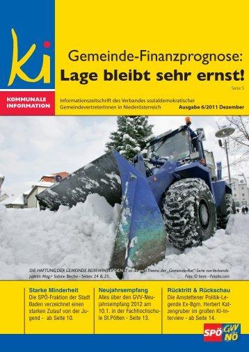 Lage bleibt sehr ernst! - SPÖ Gemeindevertreterverband NÖ