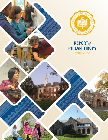 REPORTof PHILANTHROPY - Shady Side Academy