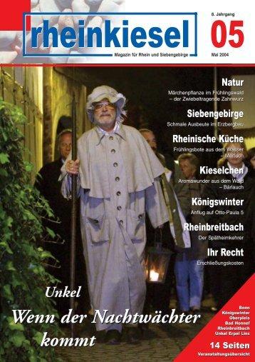 Schmale Ausbeute - Rheinkiesel