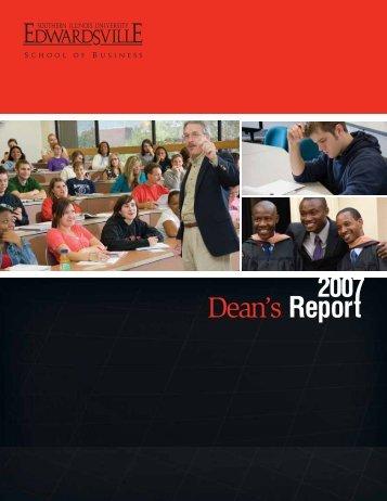 2007 Dean's Report - Southern Illinois University Edwardsville