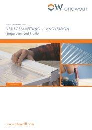 VERLEGEANLEITUNG – LANGVERSION Stegplatten und Profile