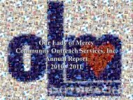 Annual Report - Our Lady of Mercy Community Outreach