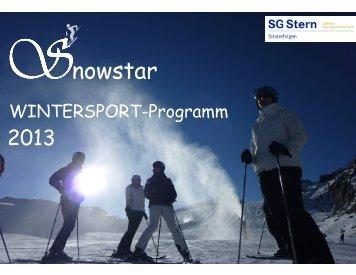 Zum Wintersportprogramm - SG Stern Sindelfingen