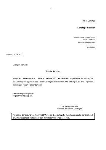 Tagesordnung - Liste Fritz