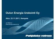Oulun Energia Urakointi Oy - Eltel Networks
