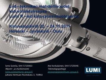 LED-tekniikan mahdollisuudet katuvalaistuksessa - Eltel Networks