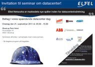 Invitation til seminar om datacenter! - Eltel Networks
