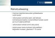 Kuntien rahoitusvaihtoehdot katuvalaistuksen ... - Eltel Networks