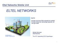 link til præsentation - Eltel Networks