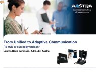 "Aastra UCaaS er markedets eneste all inclusive ""as ... - Eltel Networks"
