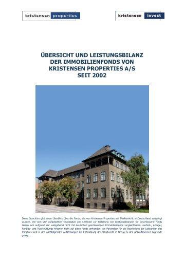 ÜBERSICHT UND LEISTUNGSBILANZ DER ... - Kristensen Invest