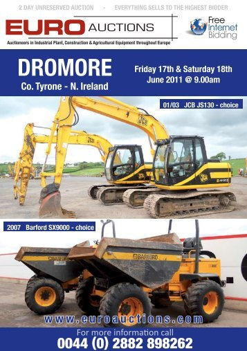 Friday 17th June 2011 @ 9.00am - Euro Auctions