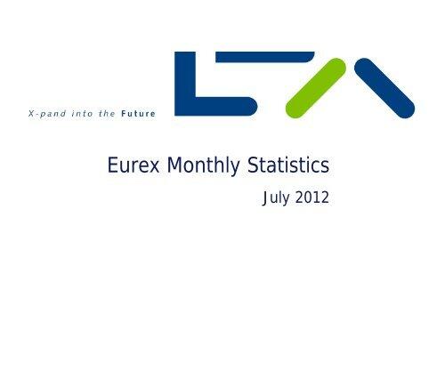 Eurex Monthly Statistics July 2012