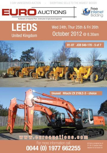 October 2012 @ 8.30am - Euro Auctions