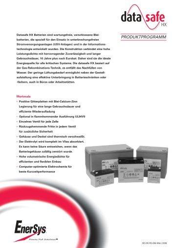 Technische Daten Deutsch - EBT Euro-Batterietechnik GmbH