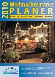 PLANER Weihnachtsmarkt - Das Hellwegnetz