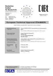 European Technical Approval ETA-08/0376 - Eurodima