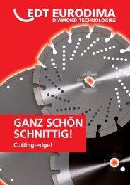 Diamant-Trennscheiben · diamond saw blades - Eurodima