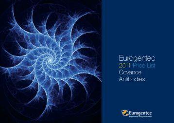 2011 Price List Covance Antibodies - Eurogentec