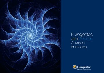 2011 Price List Covance Antibodies - Eurogentec
