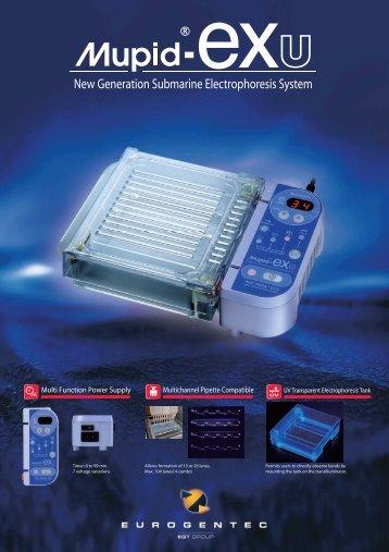 New Generation Submarine Electrophoresis System - Eurogentec
