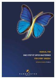 MANUAL FOR ONE STEP RT QPCR MASTERMIX ... - Eurogentec