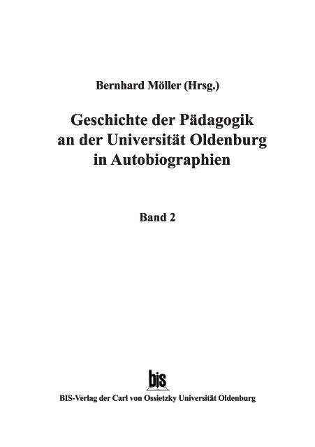 Bernhard Moller Hrsg Oops Oldenburger Online Publikations