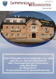 Gemeindezeitung Herbst.Winter 2009 (6,95 MB) - Semmering