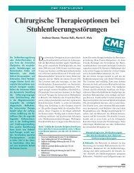 Chirurgische Therapie der Stuhlentleerungsstörung 2010
