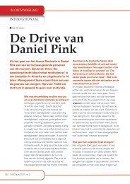 De Drive van Daniel pink - Challenge