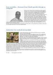 Even voorstellen...... Dierenarts Franc Viehoff: specialist chirurgie en ...