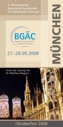 MÜNCHEN - Bayerische Gesellschaft für ästhetische Chirurgie